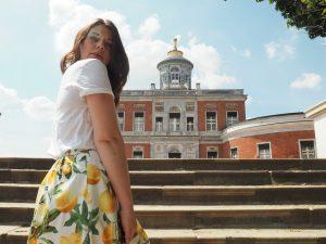 Summer Outfit: Zitronen Print und Wedges