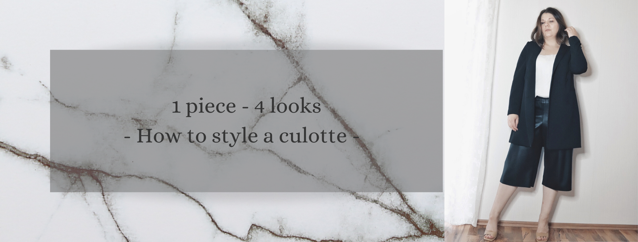 1 Piece – 4 Looks: How to style a culotte